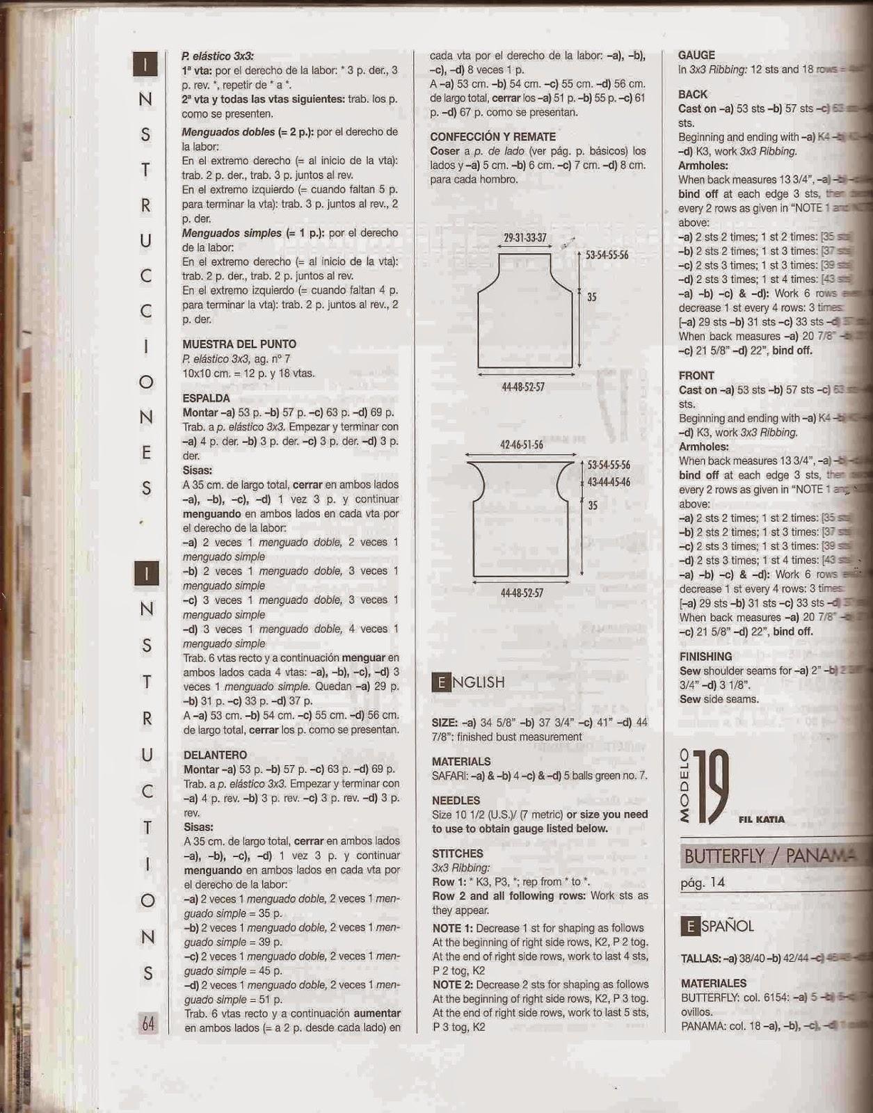 Instrucción para Blusa