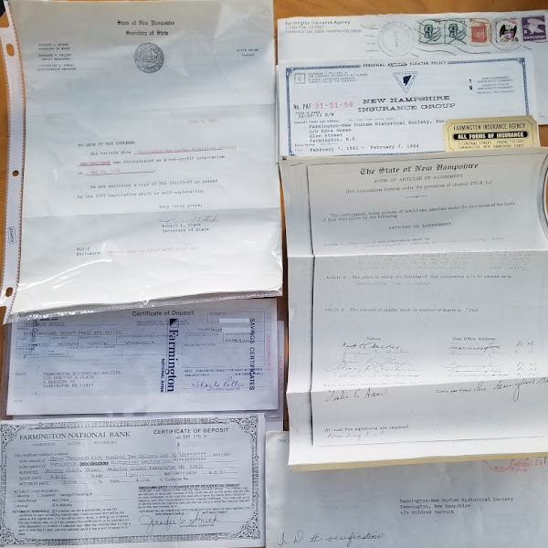 Very Early Spring Cleaning- Deposit Box Yields Small Trove of #FarmingtonNH Documents