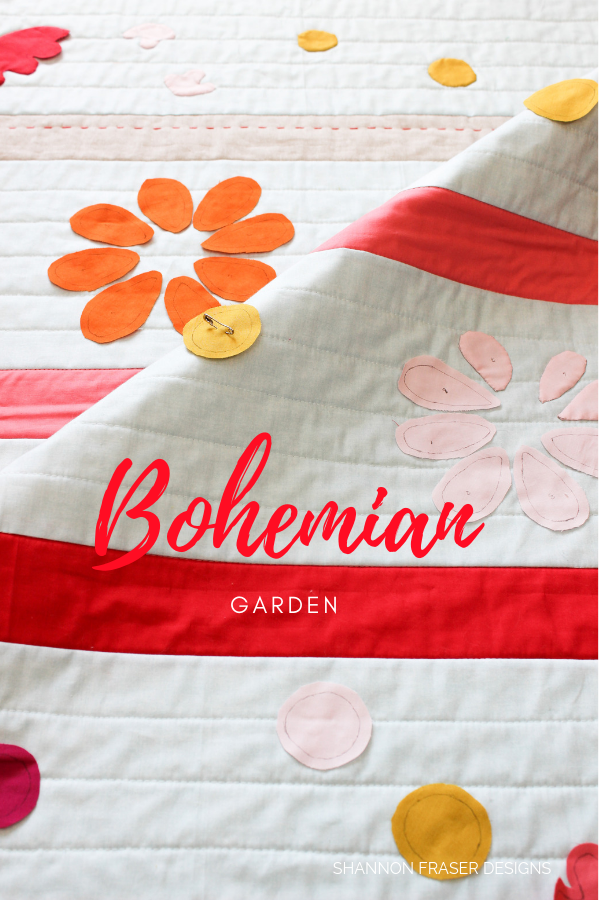 Bohemian Garden Quilt | Baby Quilt pattern by Suzy Quilts | Shannon Fraser Designs