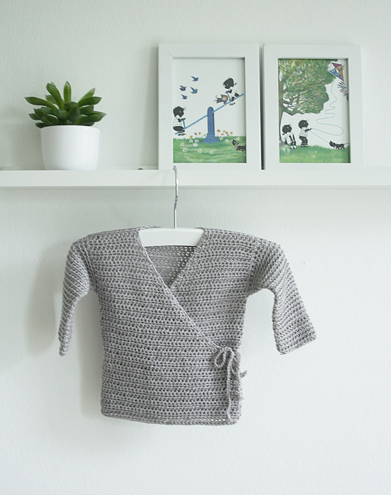Crochet baby kimono | Happy in Red