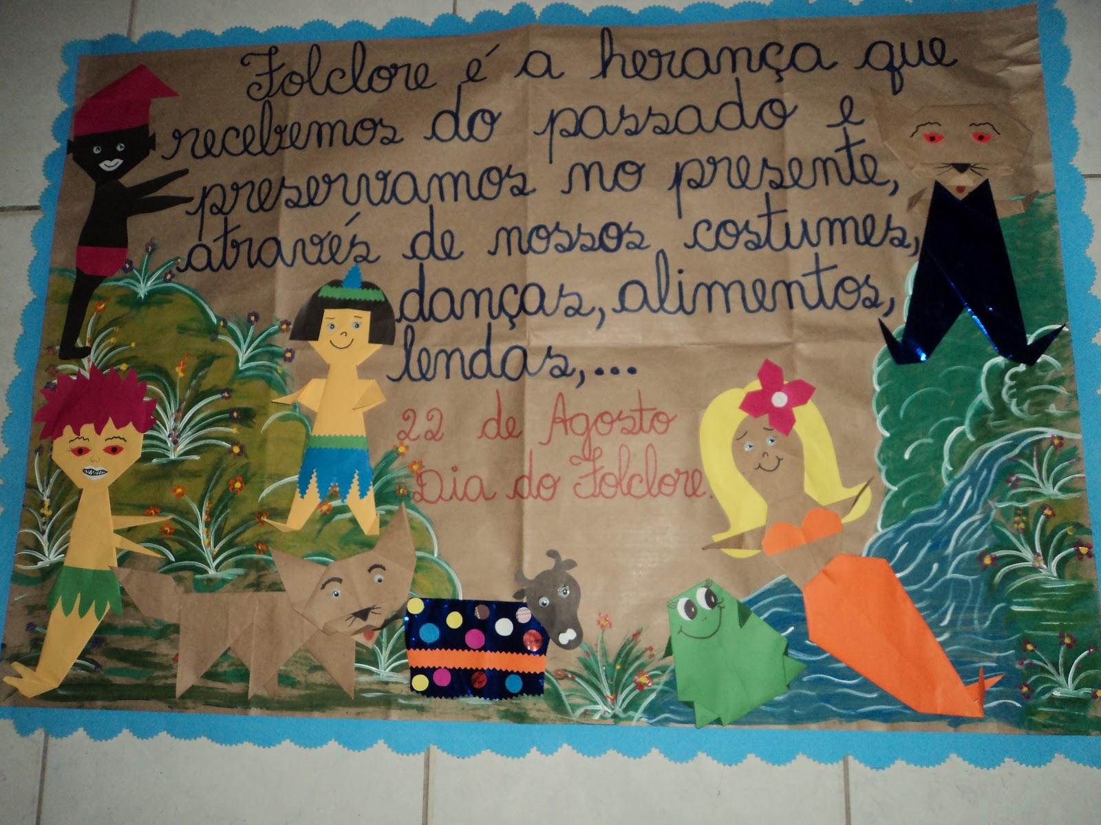 Painel Dia Do Folclore: EducArtes: FOLCLORE