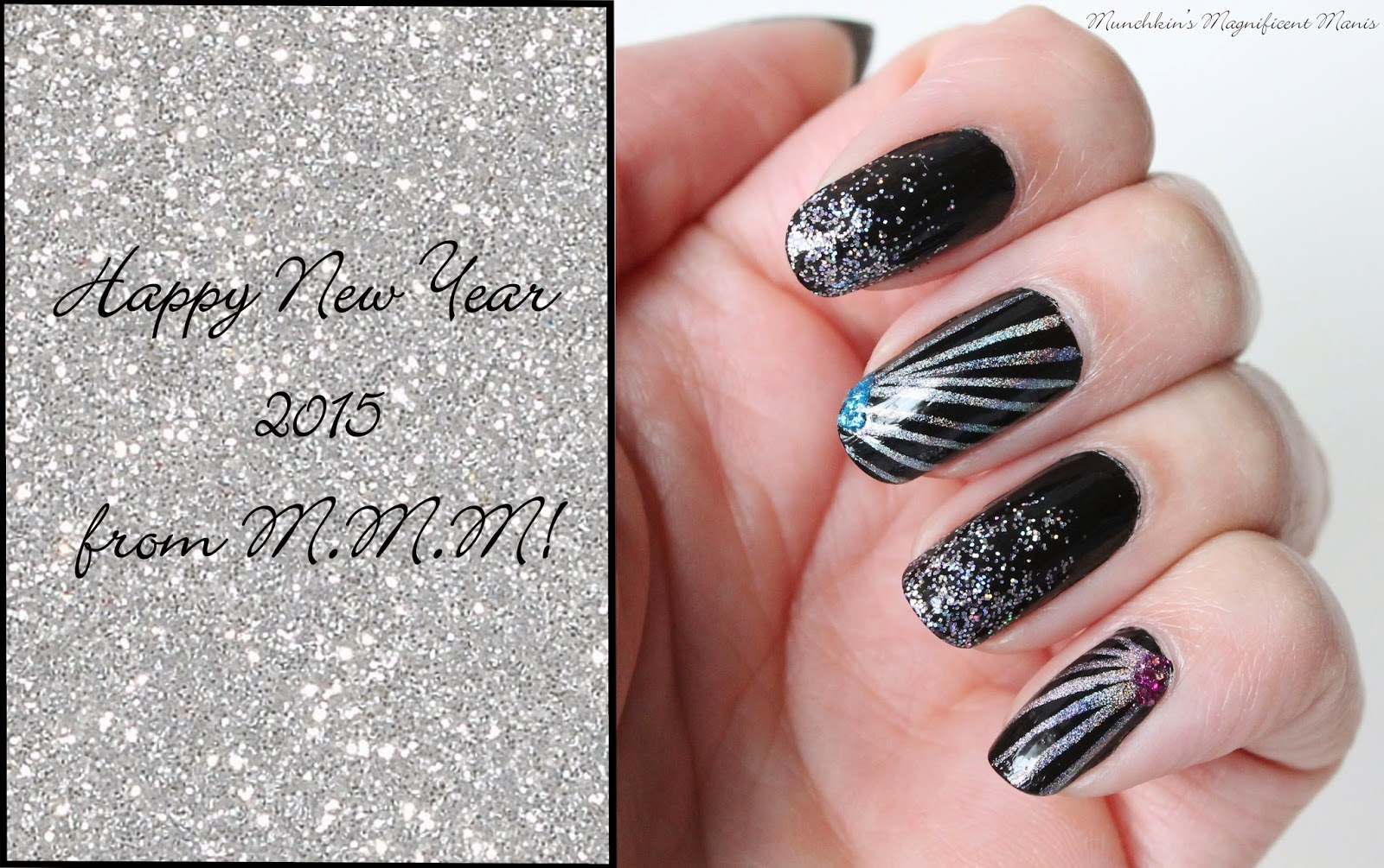 New years nail design