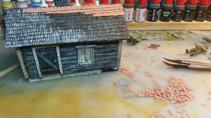Scale Models And Dioramas How To Make Wood Shingle Roof