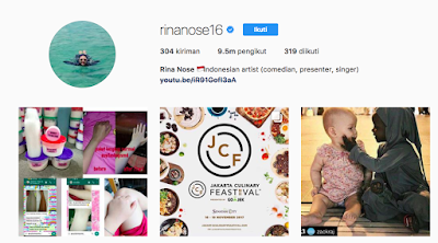 Celeb Instagram, Instagram Rina Nose, @rinanose16,