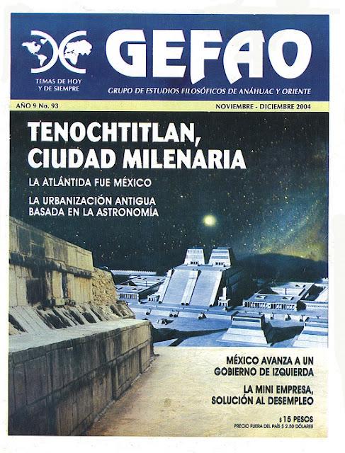 Tenochtitlan Ciudad Milenaria. Revista Gefao