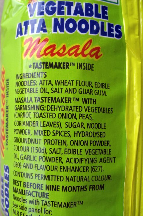 Ingredients of atta noodles