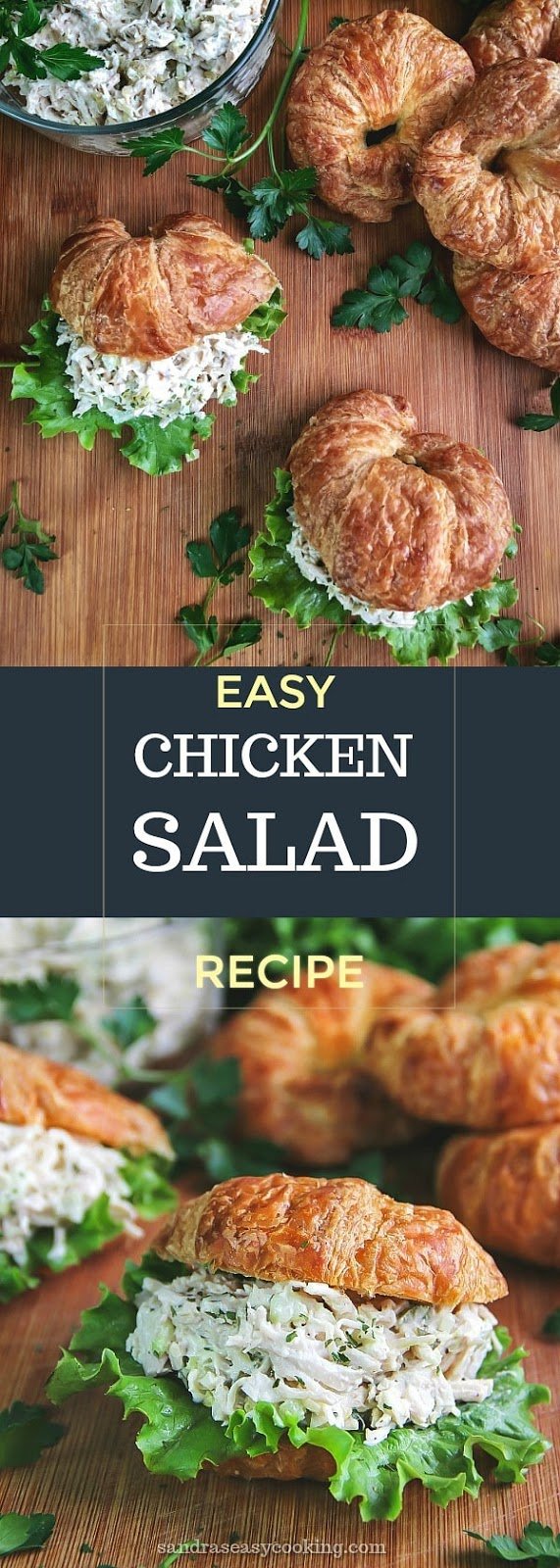 Easy Chicken Salad Recipe - Delicious, simple and perfect for a quick lunch or even a dinner. #recipe #food #homemade #sandwich