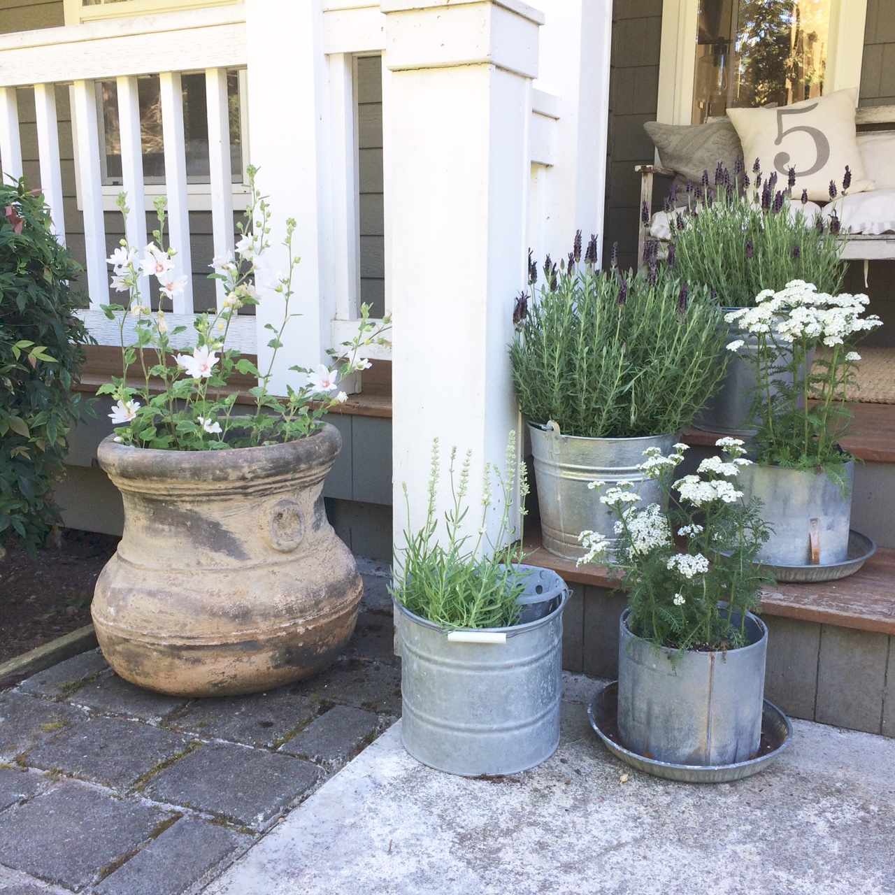 Little Farmstead: A Galvanized Grouping {Farmhouse Porch