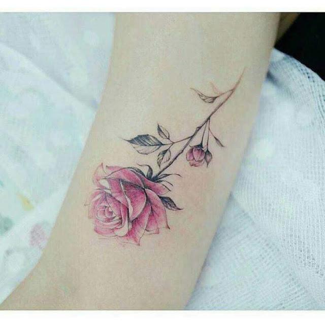 tatuagens de rosa para se inspirar