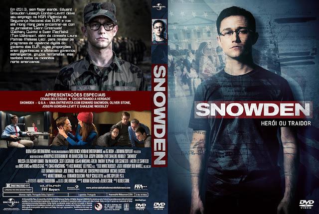Capa DVD Snowden Herói Ou Traidor