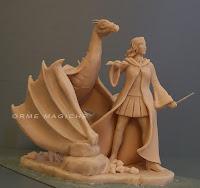 statuetta personalizzata da colorare donna drago modellino orme magiche