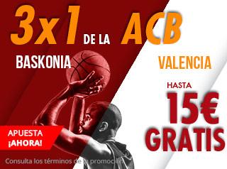suertia promocion 15 euros Baskonia vs Valencia 4 noviembre
