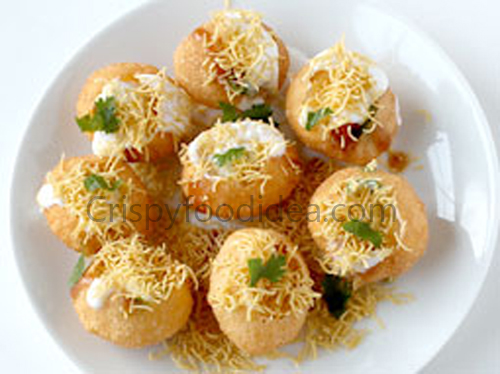 Point to the aam dahi puri