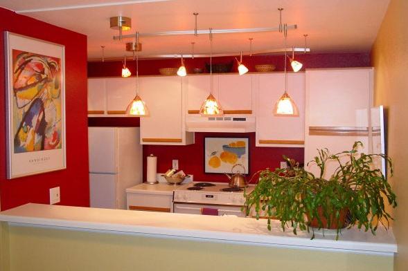 thiết kế đèn chiếu sáng phù hợp cho căn bếp