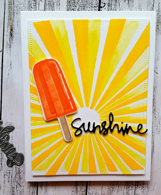 Sunny Studio Stamps: Perfect Popsicles Customer Card Share by Judy Tuck