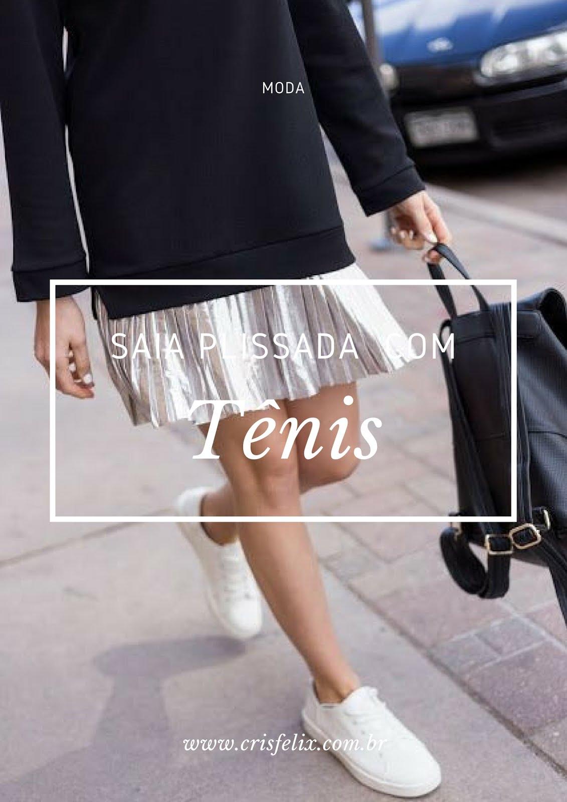 como usar saia com tênis Blog Cris Felix