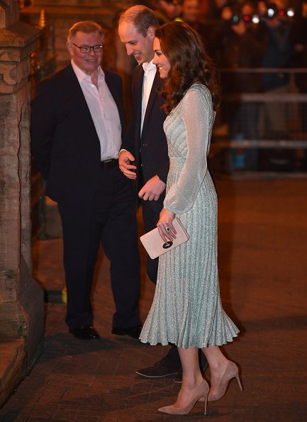 Kate Middleton wore a Missoni metallic lurex midi dress