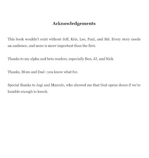 Sci-fi Book Acknowledgements