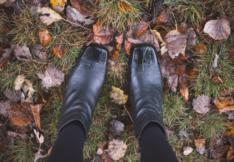 The Flying Clubhouse: October Rain | black ankle boots