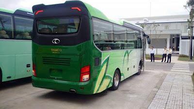 Xe Bus Thaco Bluesky 47 chỗ ngồi tại Hải Phòng sang trọng, phù hợp với người tiêu dùng