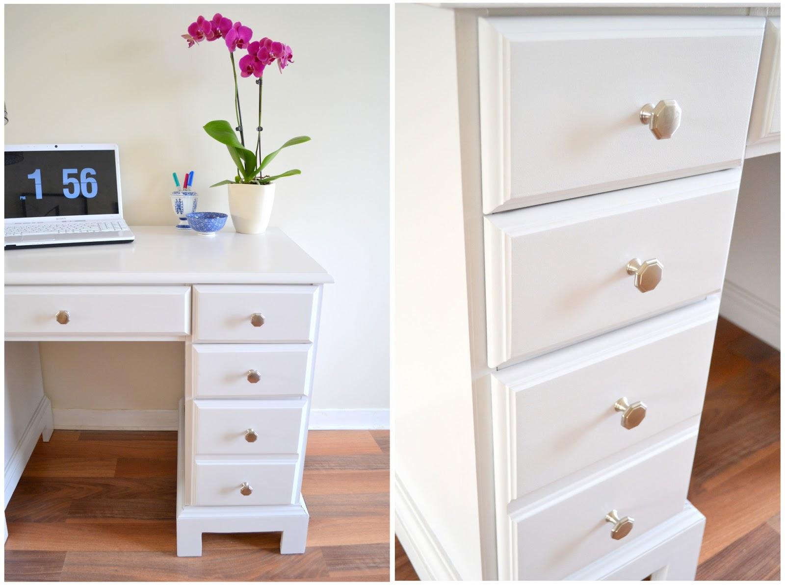 Honey Sweet Home Winter White Desk Makeover