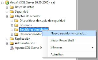 Cómo crear un servidor vinculado en SQL Server Management Studio