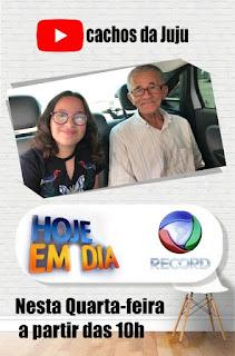 """Juliana do Canal """"Cachos da Juju"""" ensinou uma nova receita de Slime ao """"Vovô Nilson Izaias Papinho"""""""