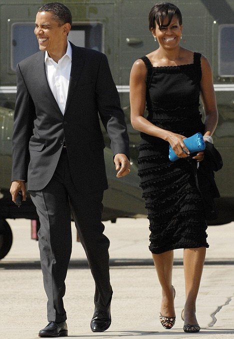 black dress, Michelle Obama, style