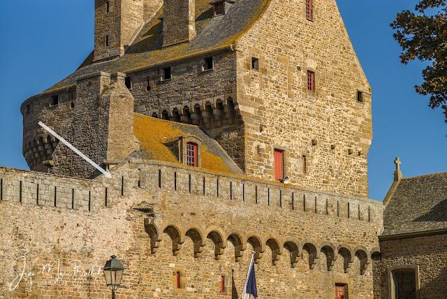 Château de Saint-Malo - modifications apportée au 19e s.