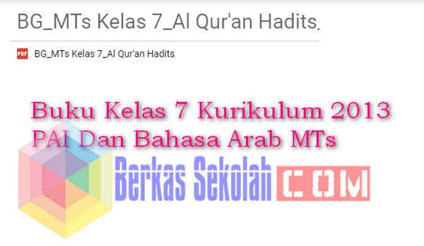 Buku Kelas 7 Kurikulum 2013 PAI Dan Bahasa Arab MTs
