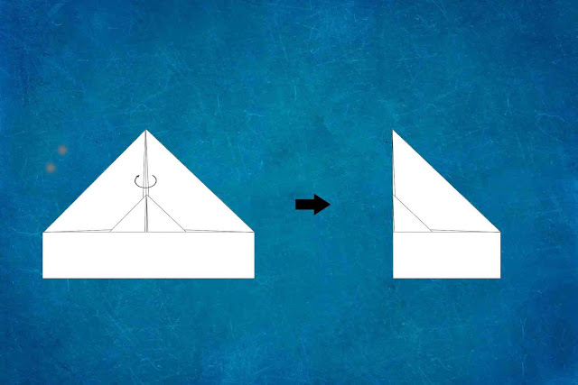 how to make a paper plane step 5