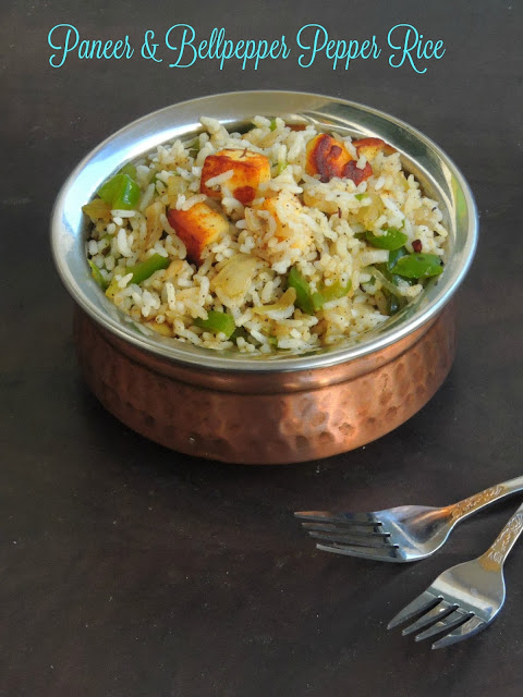Paneer Bellpepper Pepper Rice
