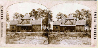 Stereographic image of an 1800s home in Pine Castle, Florida
