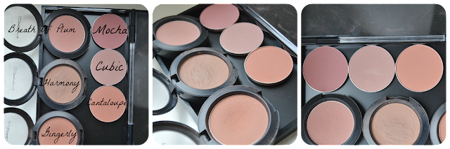 MAC-Blush, Mac Cosmetics Powder Blush Gingerly Harmony Breath Of Plum Cubic Cantaloupe Mocha