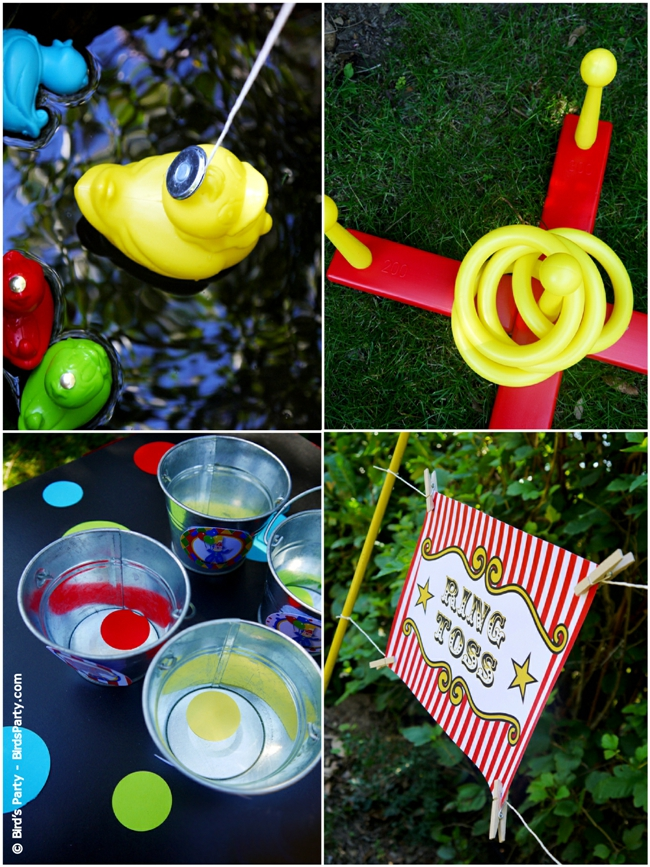 Big Top Circus Carnival Inspired Birthday Party Ideas and Printables Booths