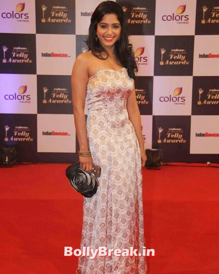 Yashashri Masurkar, Pics on Red Carpet of 13th Indian Telly Awards 2014