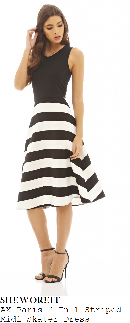 2 in 1 dress black and white
