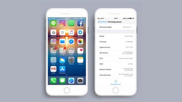 Tema MIUI iOS Alakadarnya 11.2.1 Mtz Mod Jam di Tengah (Center Clock)