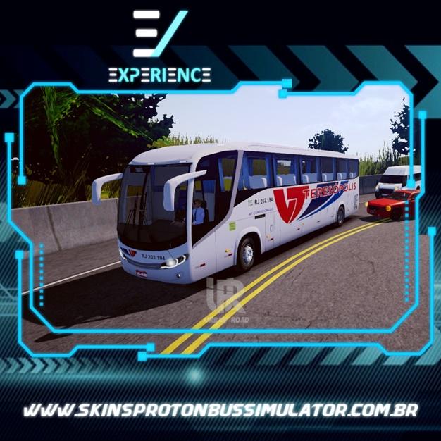 Skins Proton Bus Simulator Road - Comil Invictus MB O-500 RS Teresópolis