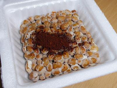 コーヒー納豆(納豆にインスタントコーヒー)