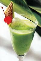 Shake melon hijau daun