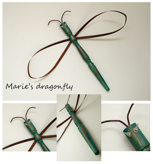DIY dragonfly from table leg