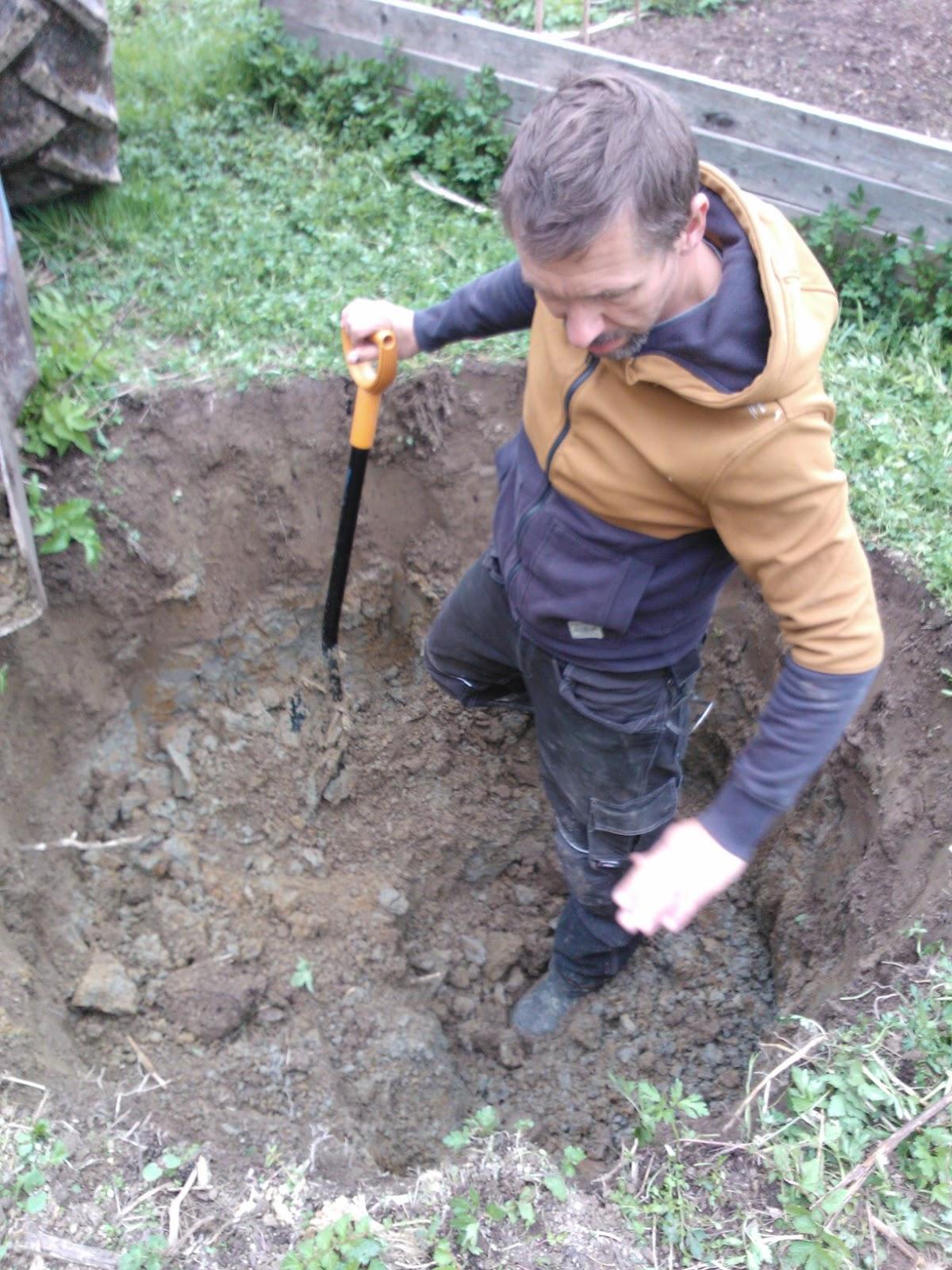gräva för hand