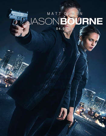 Poster Of Jason Bourne 2016 Dual Audio 500MB HC HDRip 720p HEVC Free Download Watch Online Worldfree4u