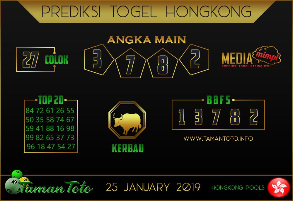 Prediksi Togel HONGKONG TAMAN TOTO 25 JANUARI 2019