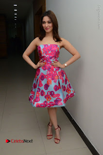 Actress Tamanna Latest Images in Floral Short Dress at Okkadochadu Movie Promotions  0162.JPG