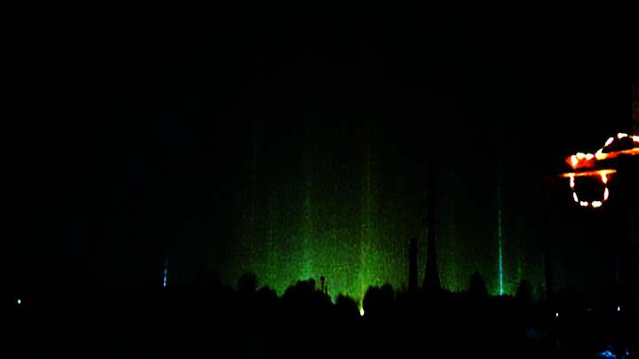 Misteriosos pilares de luz