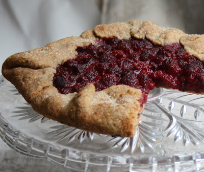 Simple whole grain pastry for easy free form fruit pies