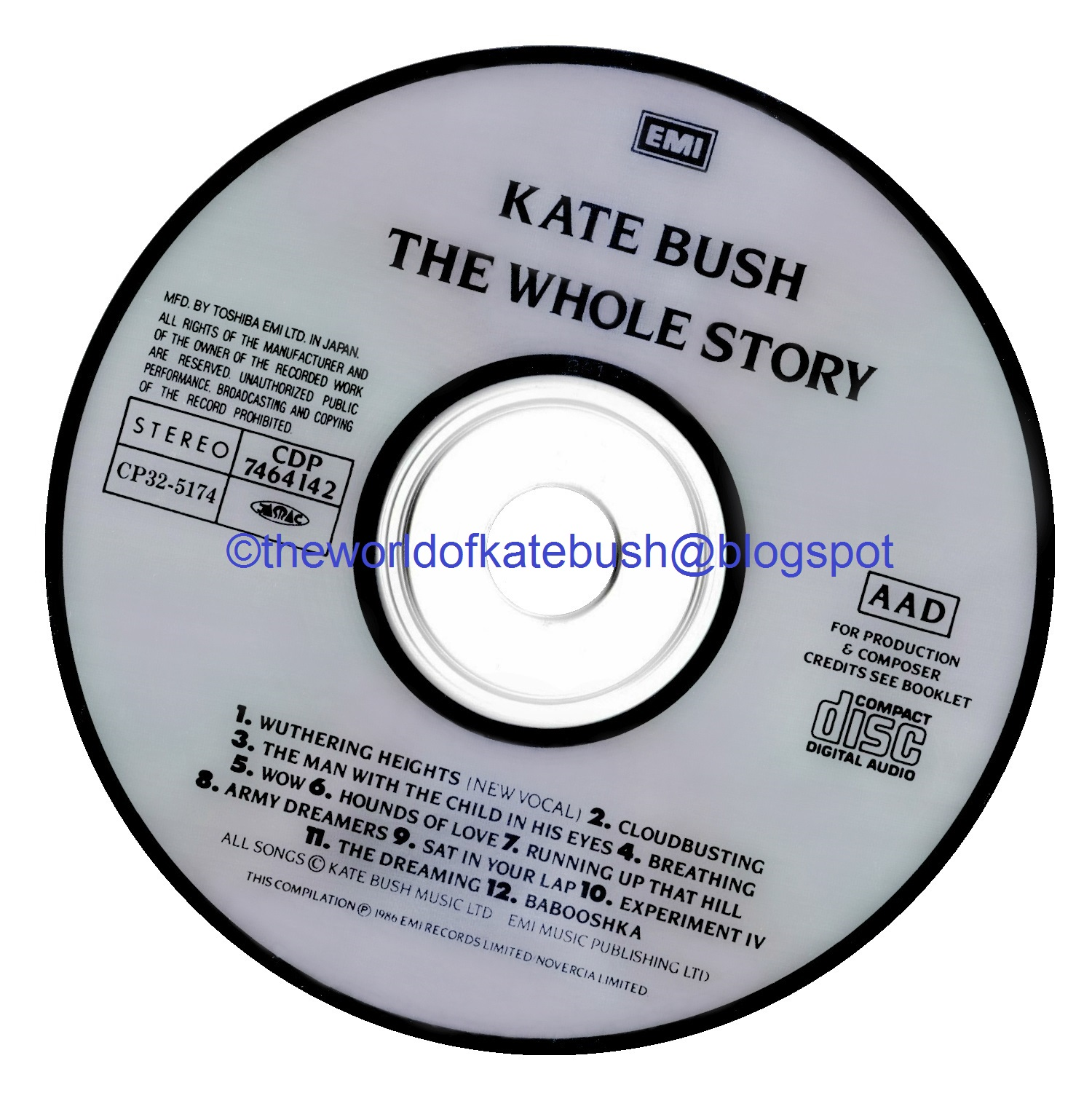 THE WORLD OF KATE BUSH: The Whole Story - Japan CD Release