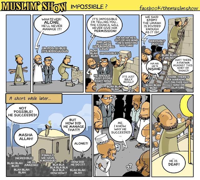 muslim show, favorite comic strips, cynicism, deaf, masjid